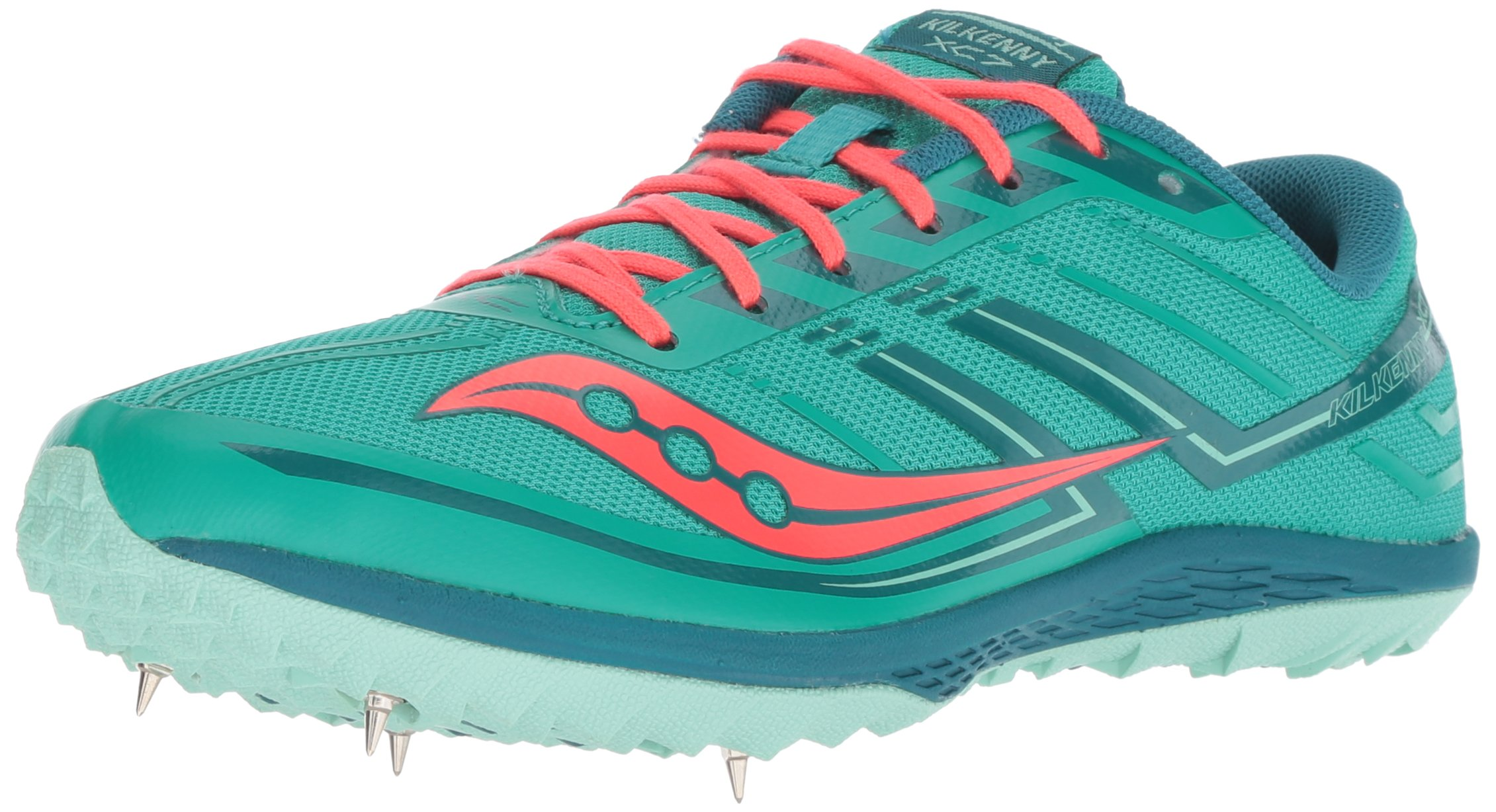 Saucony Women's Kilkenny XC7 Track Shoe, Teal/red, 5 M US by Saucony