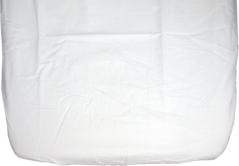Ti TIN - Pack de 2 Sábanas Bajeras para Capazo Moisés o Coche 100% Algodón | Lote de 2 Sábanas Bajeras Ajustables con Elásticos, 35x75 cm, 2 Unidades Blancas