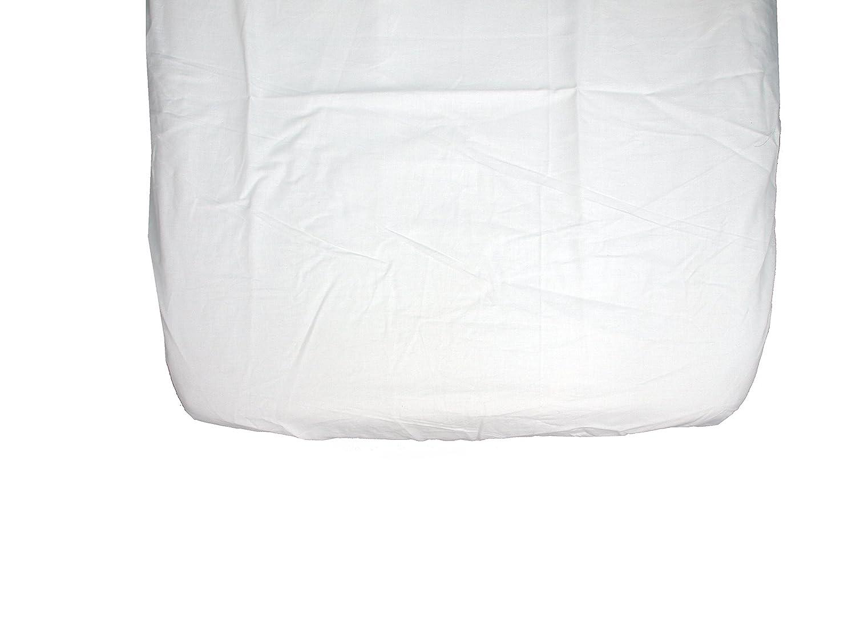 Ti TIN Pack de 2 S/ábanas Bajeras para Maxicuna//100/% Algod/ón//Ajustables con El/ásticos 70x140 cm 1 S/ábana Blanca 1 S/ábana Rosa
