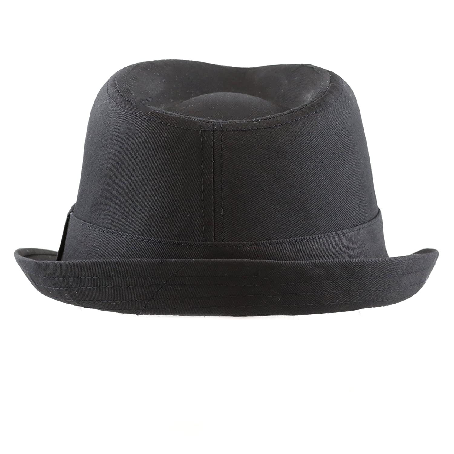 82fa0ddd538 THE HAT DEPOT Unisex Cotton Twill Paisley Lining Solid Fedora Hat at Amazon  Men s Clothing store