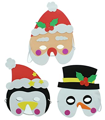 Zacs Alter Ego® Pack of 12 Assorted Christmas Foam Masks for Children