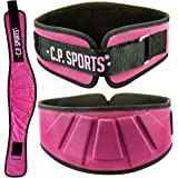 CP Sports Profi-Ultraleichtgürtel Farbe: Pink - Damen / Frauen Trainingsgürtel - Fitness Gewichthebergürtel
