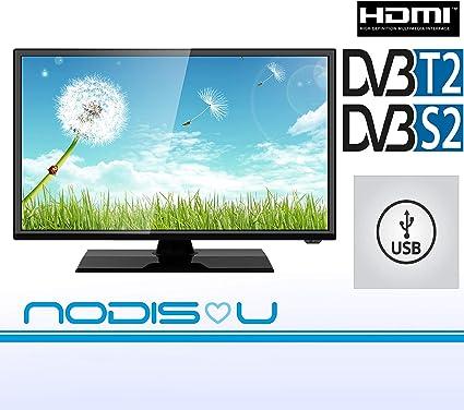 Televisor 24 pulgadas NODIS LED HD DVB-T2/S2 digital de última generación T2 HDMI garantía italiana marca italiana: Amazon.es: Electrónica