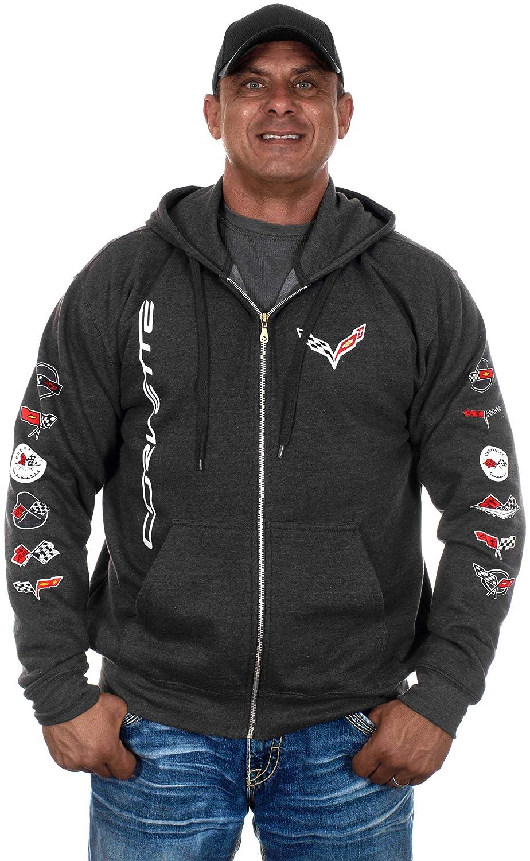 JH DESIGN GROUP Men/'s Chevy Corvette Hoodies-Pullover /& Zip Up Sweatshirts in 6 Styles