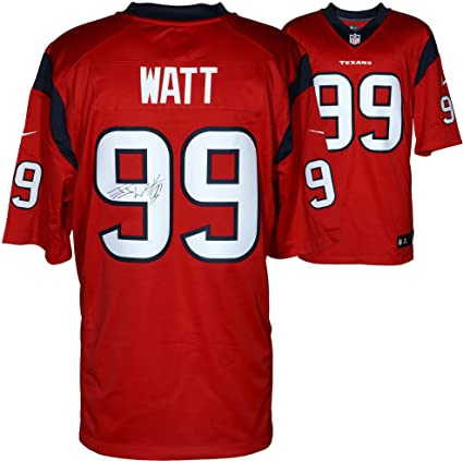 official photos 56ecd 2b408 Amazon.com: J.J. Watt Houston Texans Autographed Nike ...
