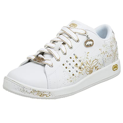 3166b4590 Marc Ecko - Zapatillas de piel sintética para niña Blanco  White silver gold  Amazon.es  Zapatos y complementos