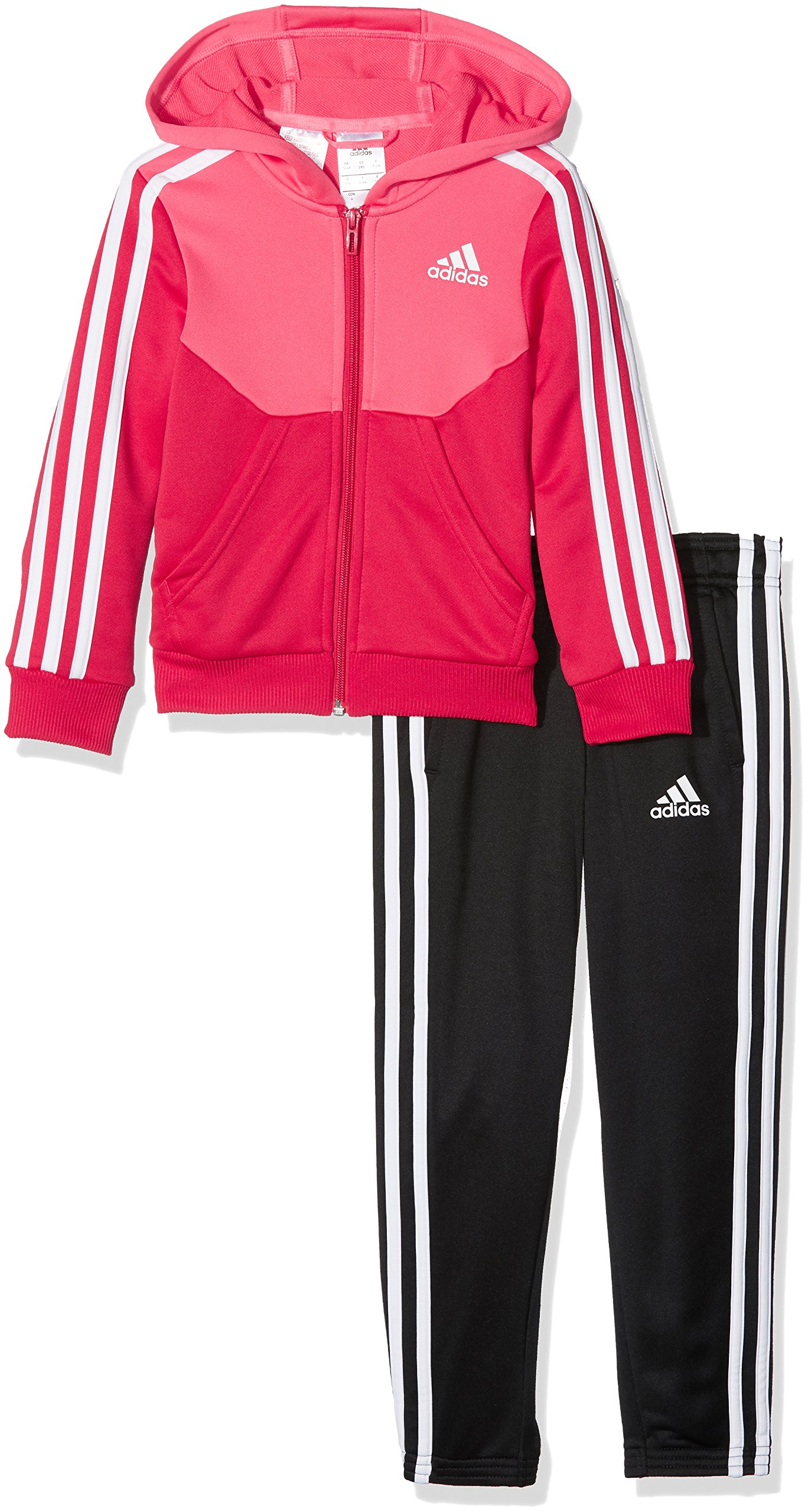 adidas Hooded Tracksuit - Girls - Super Pink - Age 11-12