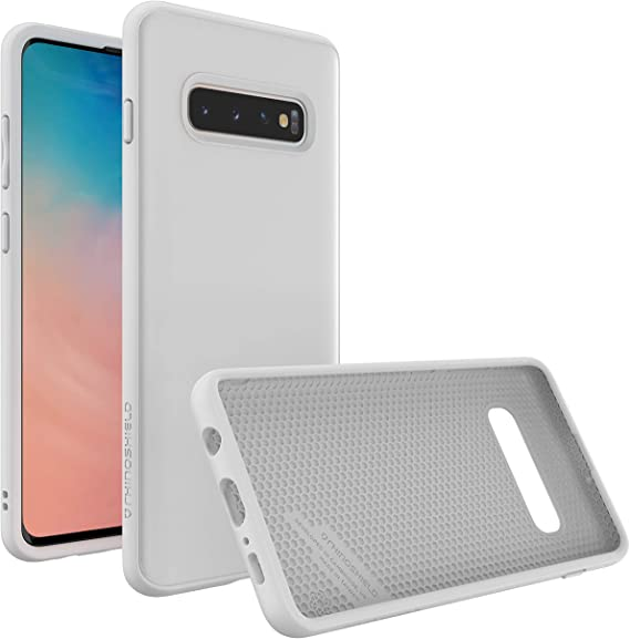Amazon Com Rhinoshield Case Compatible With Samsung Galaxy S10 Plus Solidsuit Shock Absorbent Slim Design Protective Cover With Premium Matte Finish 3 5m 11ft Drop Protection Classic White