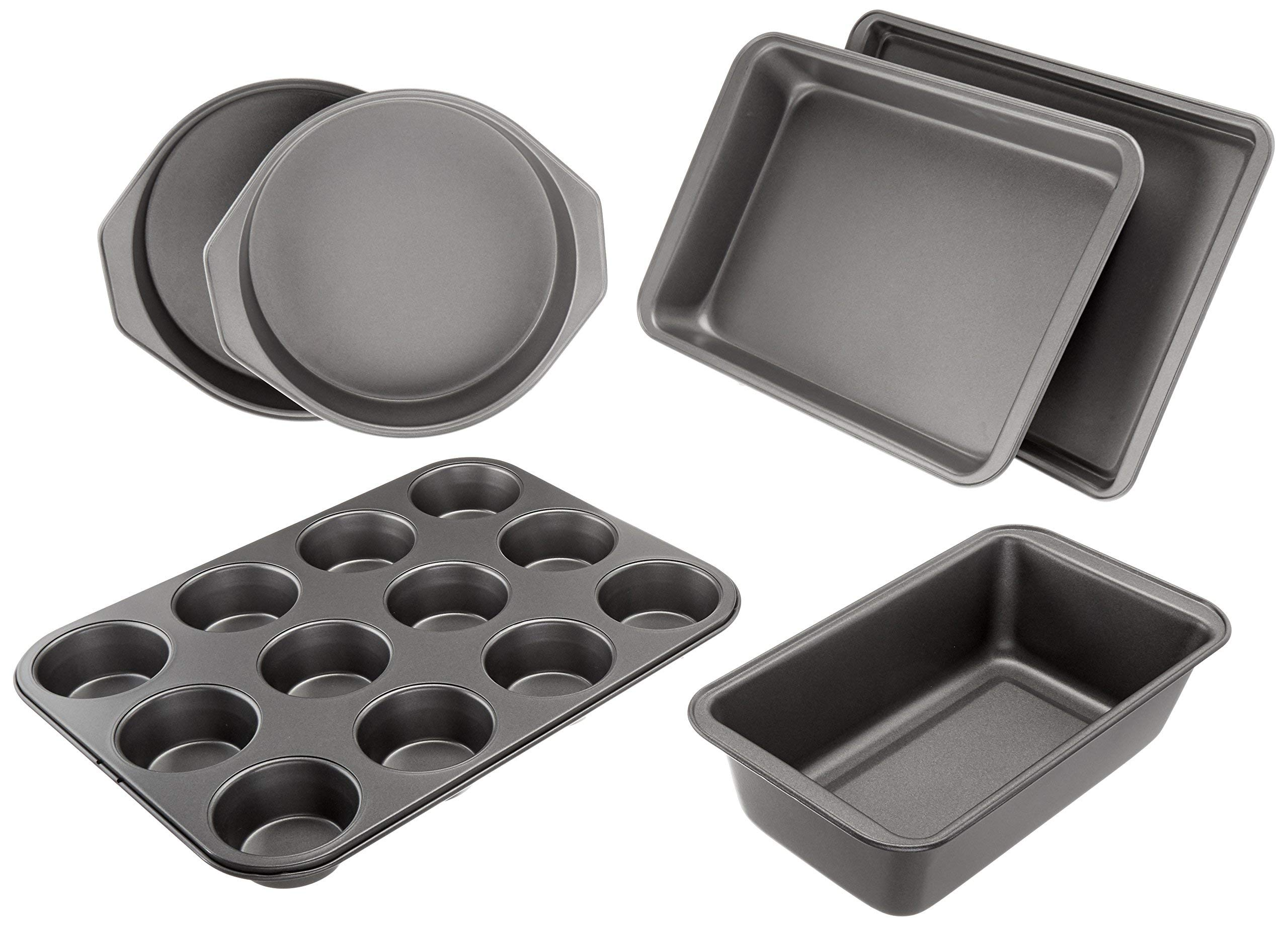 AmazonBasics 6-Piece Nonstick Bakeware Set (Renewed)