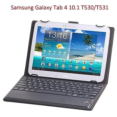 J&H Funda de Piel Universal para Teclado de Tableta de 10 Pulgadas, Vodafone Smart Tab 3 ...