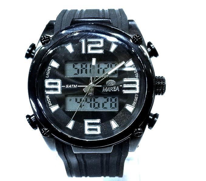 Reloj Marea Hombre B35241/2 Analógico-Digital Metal Bicolor Negro: Amazon.es: Relojes