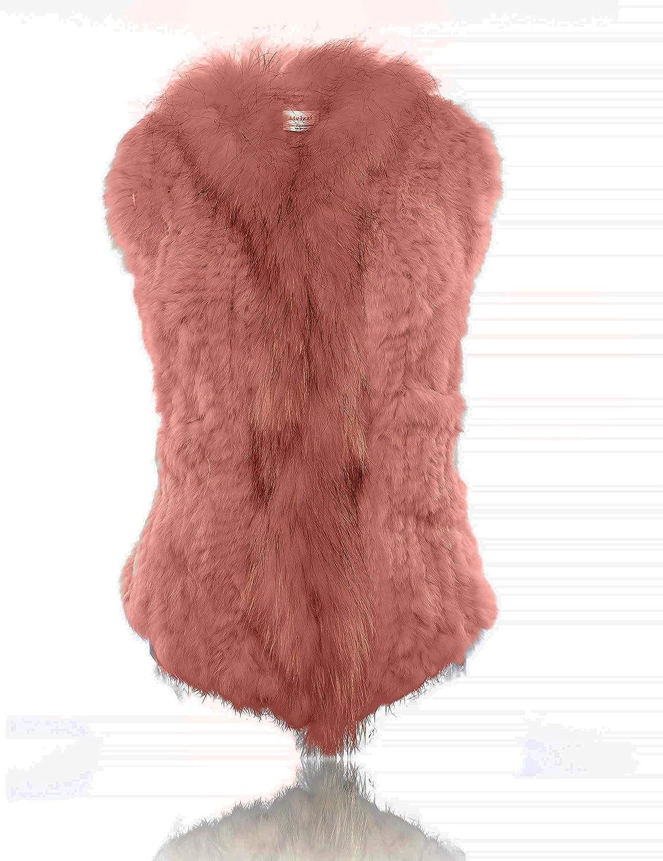 HEIZZI Genuine Rabbit Fur Vest with Pocket FOFOV6