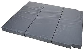 Amazon.es: Viscoelástico Cubrecolchón T5 T6 Dormir Cama Colchón Plegable 185 x 148 x 8 cm Color Gris Oscuro