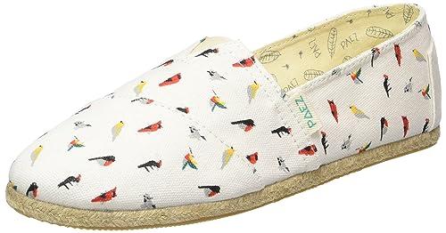 Paez Original Raw Birds, Alpargatas Unisex Adulto, Mehrfarbig (White, 0012), 41 UE: Amazon.es: Zapatos y complementos