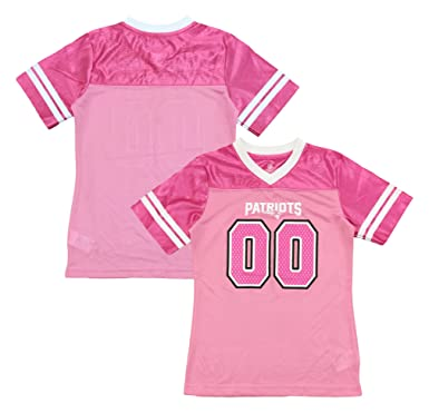 f01562de1 Outerstuff New England Patriots Logo  00 Pink Dazzle Girls Youth Jersey  (Large 14)