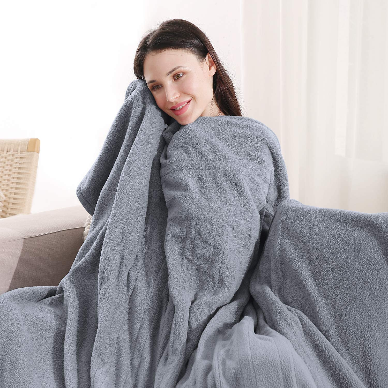Red Wine MaxKare Electric Heated Blanket Twin Size 62 x 84 Super Cozy Soft Fleece Fast Heating /& ETL Certification with 10 Hours Auto-Off /& 4 Heating Levels