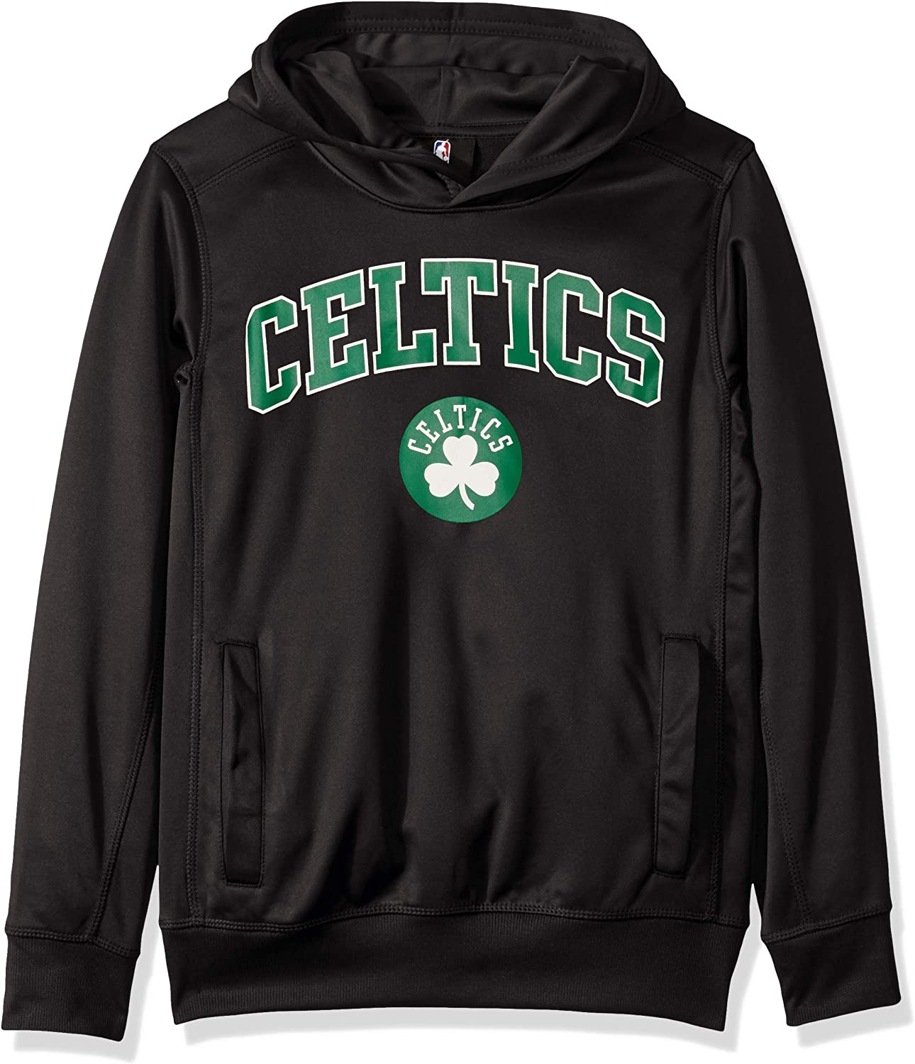 8 Black NBA by Outerstuff NBA Youth Boys Boston Celtics Loose Ball Performance Hoodie Youth Small