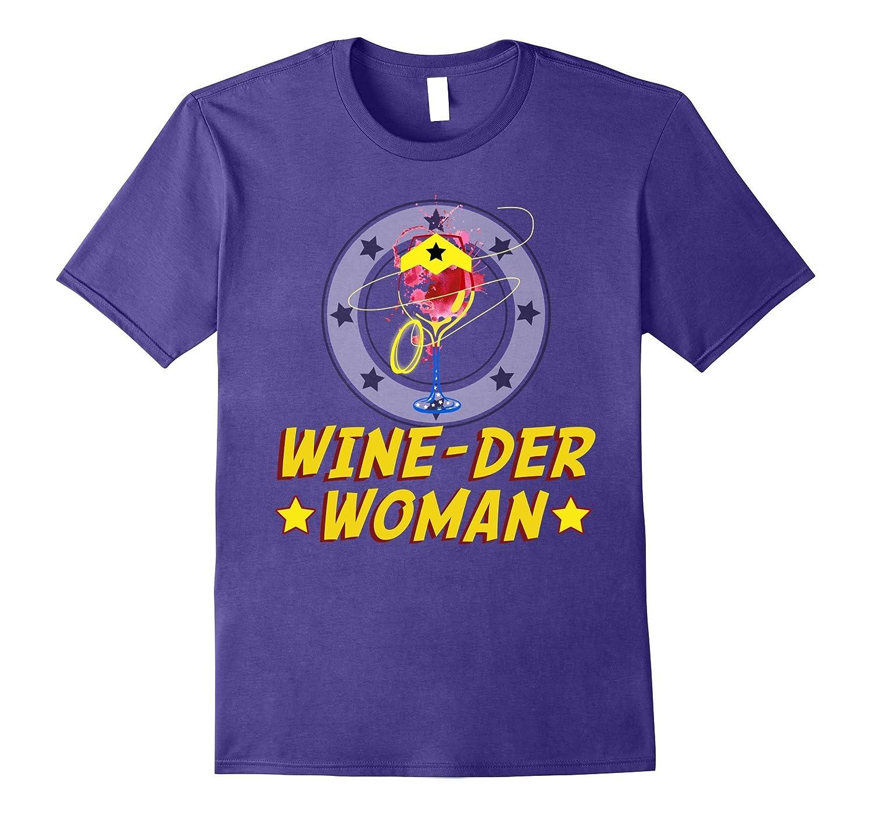 Wine-der Woman T-shirt Wine Drinker tee-Art