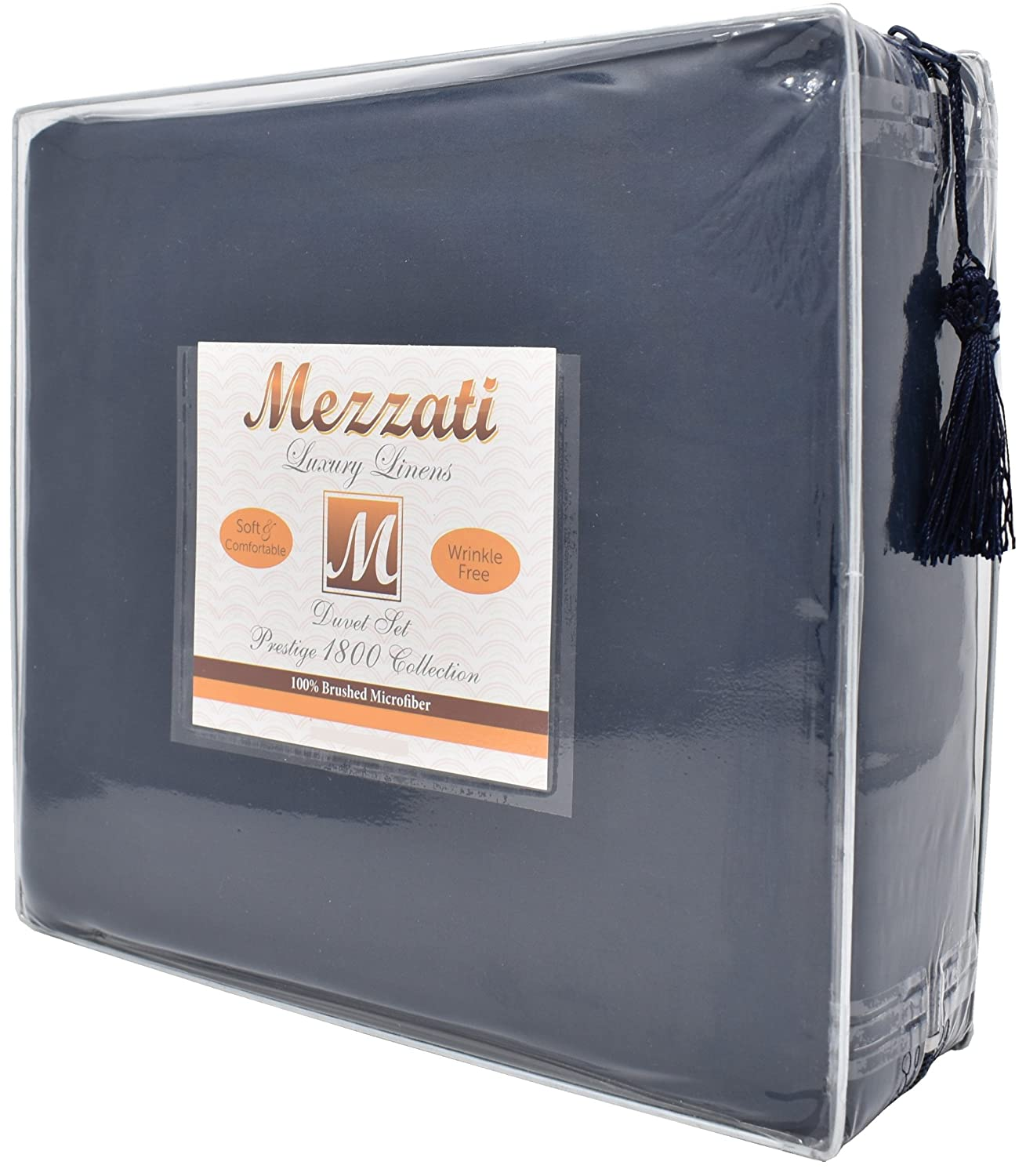 Blue Queen Mezzati Luxury Duvet Cover Set - Best, Softest, Coziest Set on Amazon! - SALE