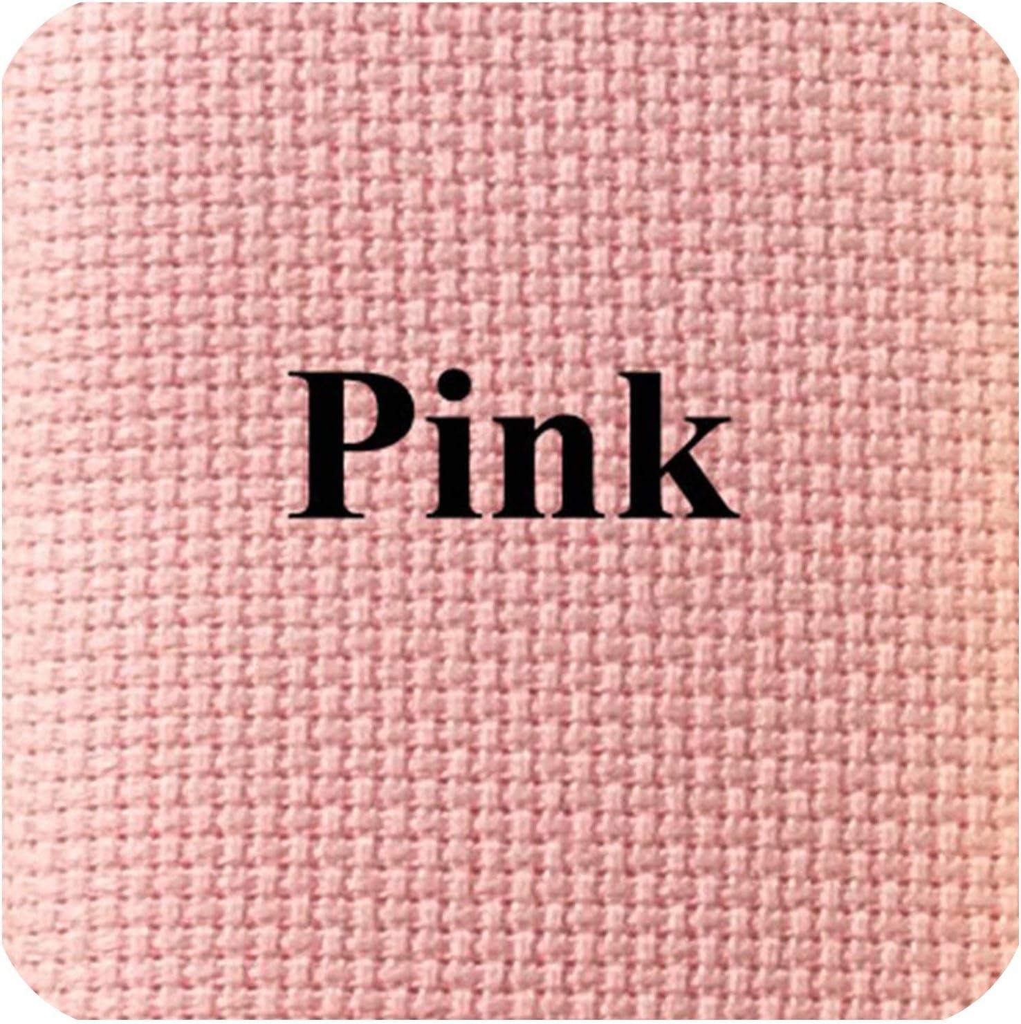25X25Cm 14Ct White Cloth Pink Black Flaxen Green Cross Stitch Fabric Canvas DIY Handmade Needlework,Beige,25X25Cm