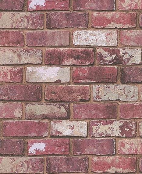 Brick Wallpaper Amazoncouk Diy Tools