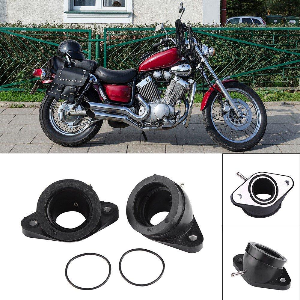 Acouto 2 x Motorcycle Carb Intake Carburetor Interface Adapters Yamaha XV400 XV500 XV535