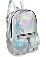 Hoxis Gammaray Rainbow Hologram Backpack Bling Glitter Womens Bags