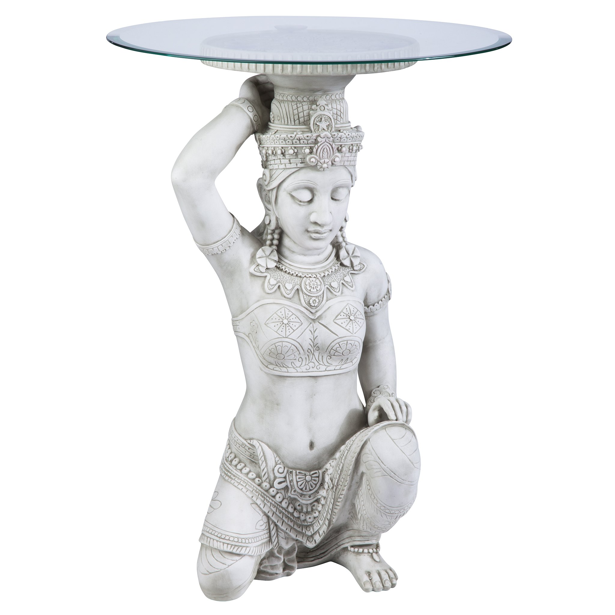 Design Toscano Thai Teppanom Beautiful Being Glass -Topped Asian Decor Table by Design Toscano