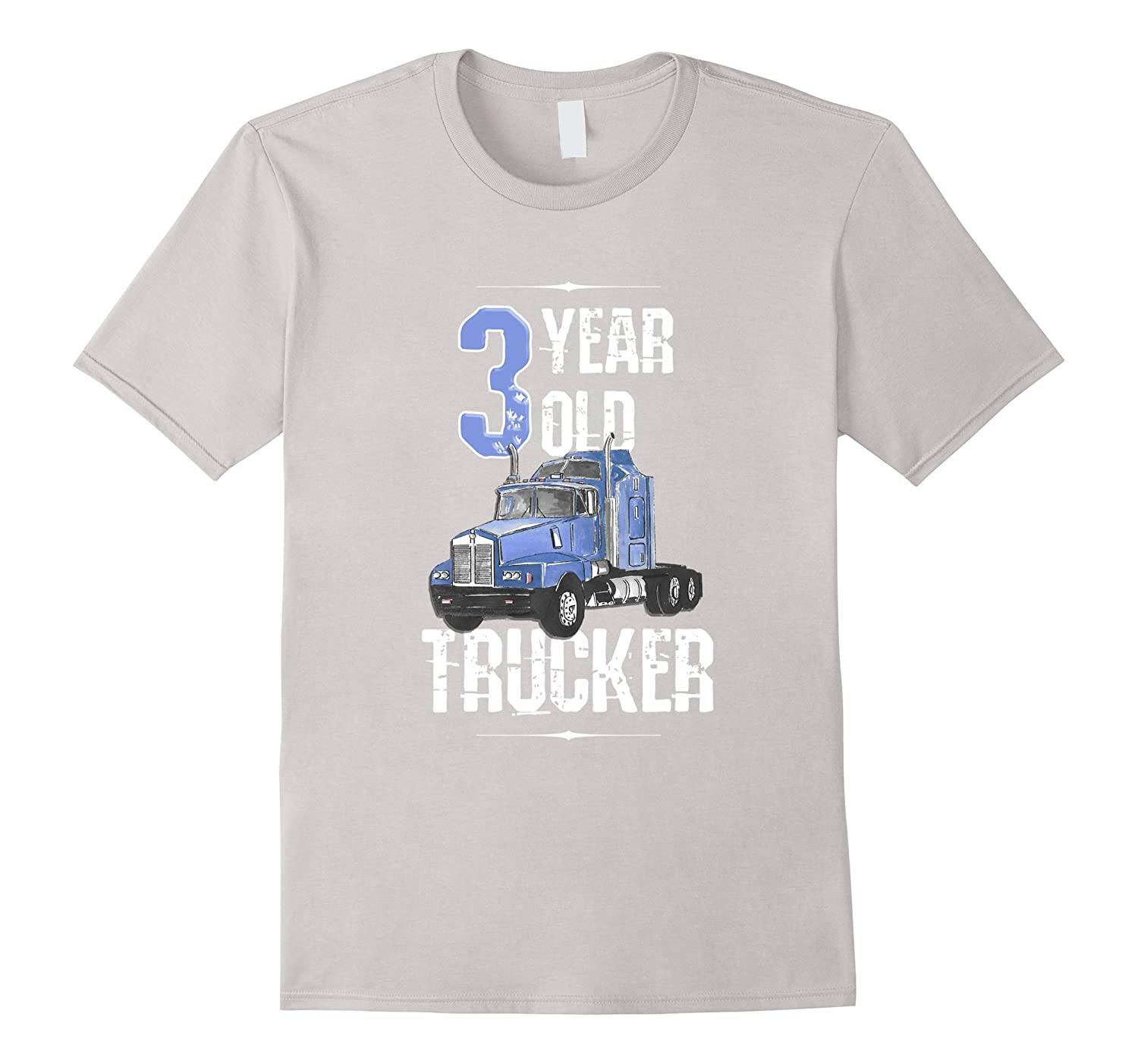 Birthday Shirt 3 Boy Year Old Kids Toddler Trucker T BN