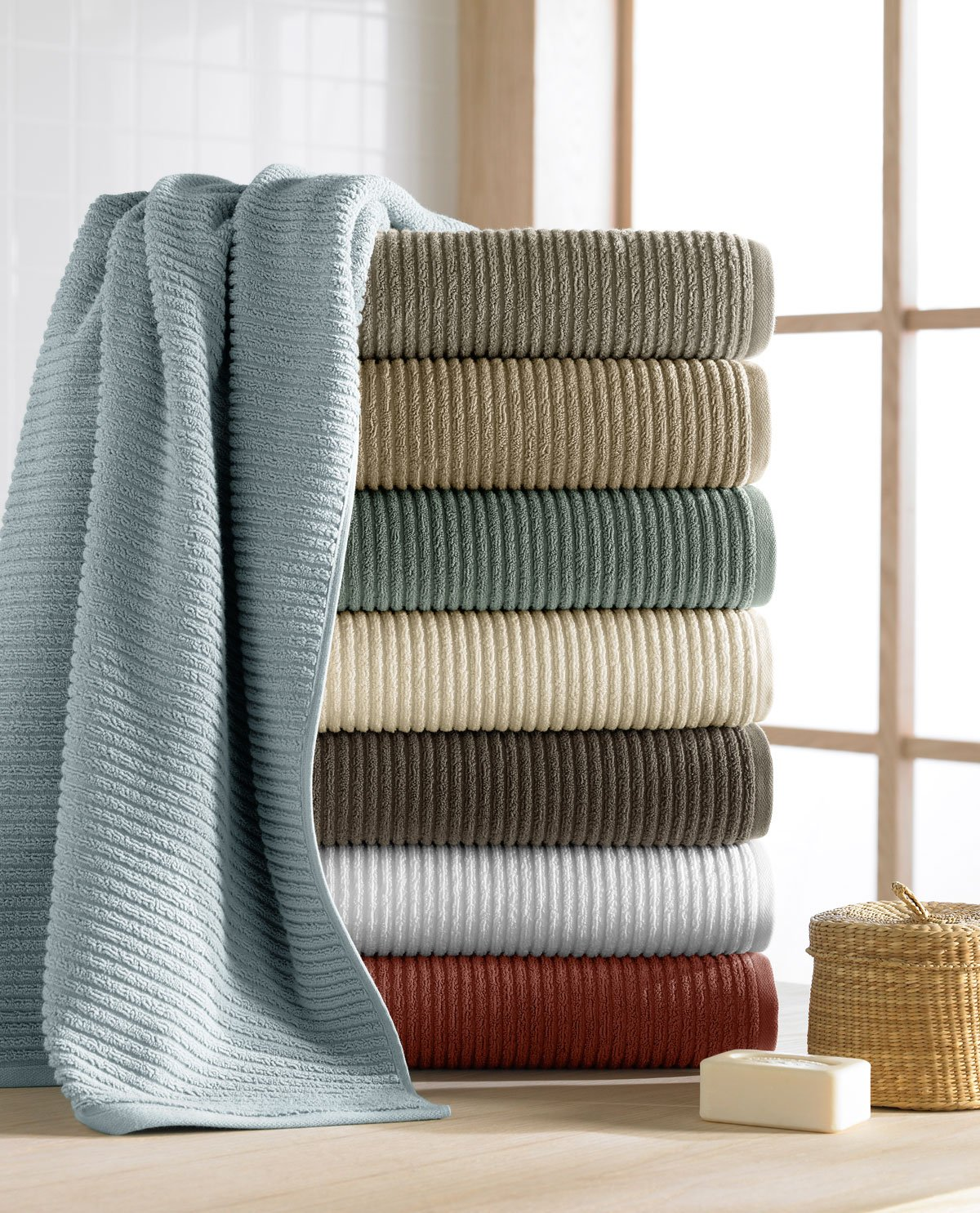 Maroma 100% Combed Extra Long Staple Egyptian Cotton Towels - Chocolate - 6 Piece Set