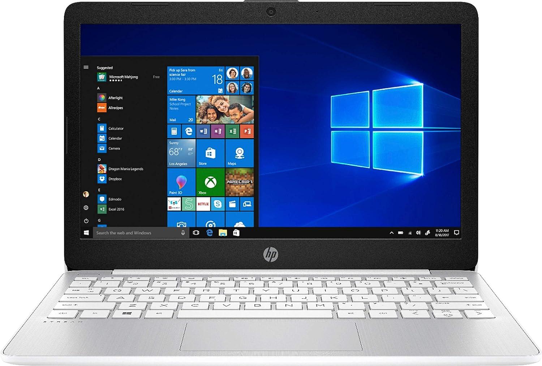 2020 Newest HP Stream 11.6 inch HD Laptop, Intel Celeron N4000, 4 GB RAM, 64 GB eMMC, Webcam, HDMI, Windows 10 (Renewed)