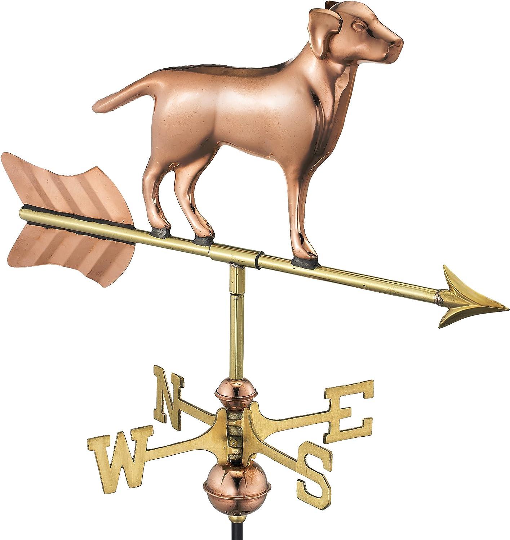 Good Directions Labrador Retriever/Dog Garden Weathervane, Includes Garden Pole, Pure Copper