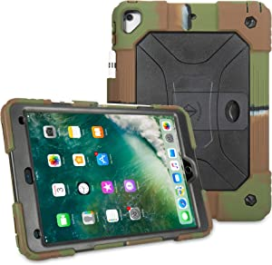 iPad Air 2 Case Shockproof Case Heavy Duty Shockproof Cover Vivid Colors with Stand for iPad Air 2 2014 Release (A1566 A1567)-Camo Black