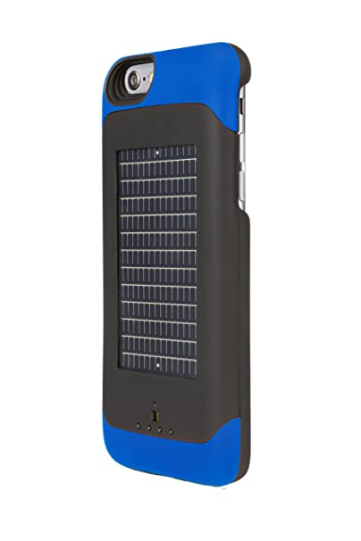newest 0b682 801c0 EnerPlex Surfr AMP Ultra Slim Battery Backup & Solar Powered Case for  iPhone 6/iPhone 6S, Blue, SRI6A3000BL