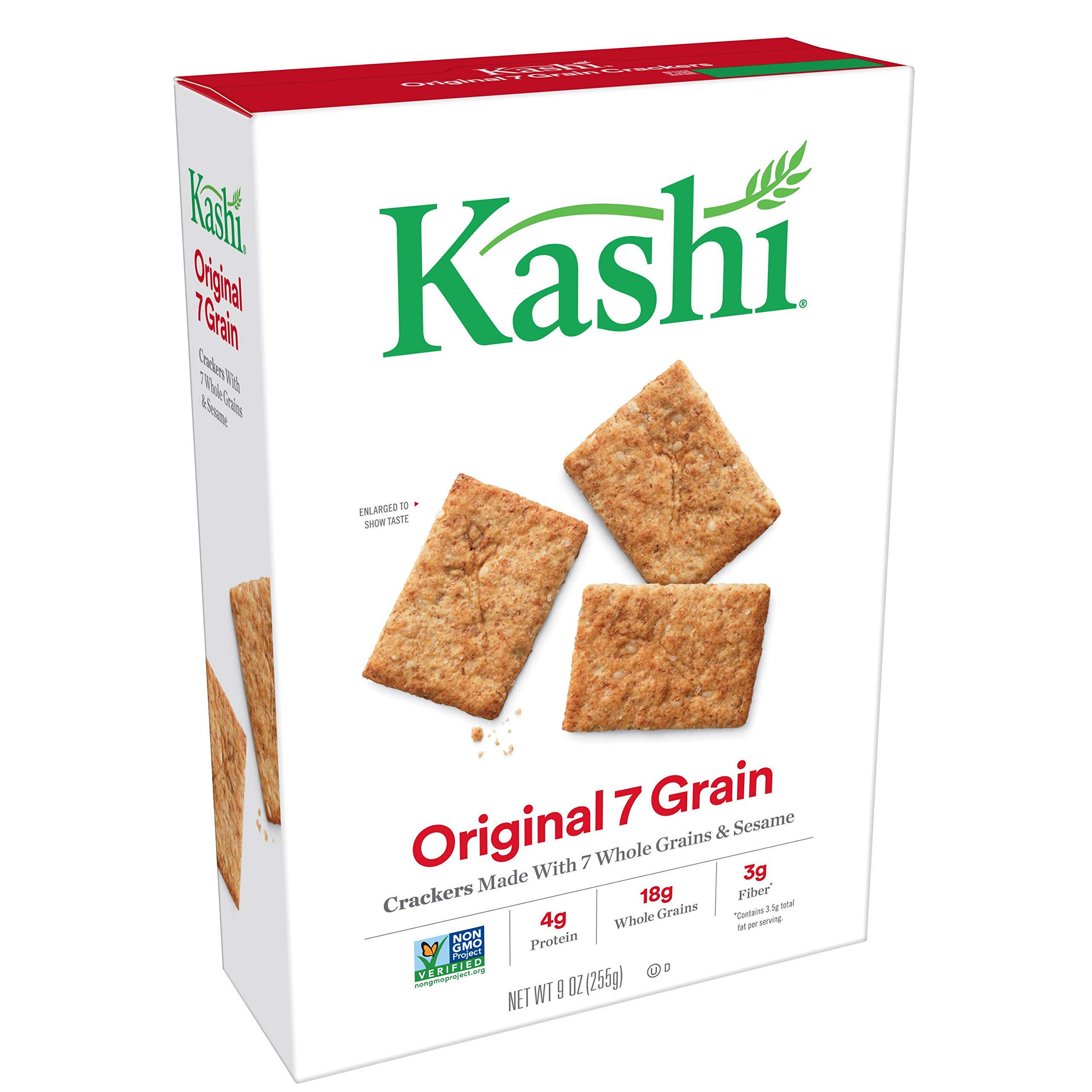 (Discontinued By Manufacturer) Kashi, Crackers, Original 7 Grain, Non-GMO Project Verified, 9 oz by Kashi