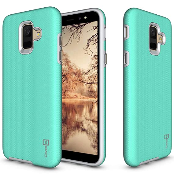 competitive price c1622 f2706 Samsung Galaxy A6 Phone Case, CoverON Rugged Series Heavy Duty Protective  Hard Phone Cover - Mint Teal