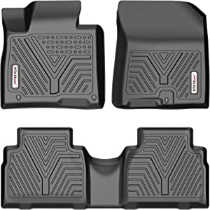 YITAMOTOR Floor Mats Compatible with 2019-2021 Hyundai Santa Fe 5 Passenger Models, Custom Fit Black TPE Floor Liners, 1st, 2nd and 3rd Row All-Weather Protection
