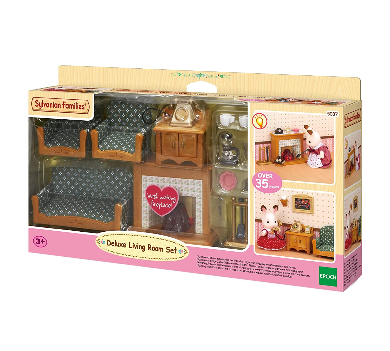Sylvanian Families Bedroom Furniture Set Sylvanian Families Deluxe Living Room Set Amazoncouk Toys Games