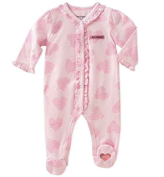 78f944e87c3d Amazon.com  Juicy Couture Baby Girls Sleeper  Clothing