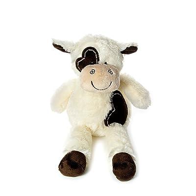 Animal en peluche de vache marron et creme tres douce de 36cm pour bébé ou enfant