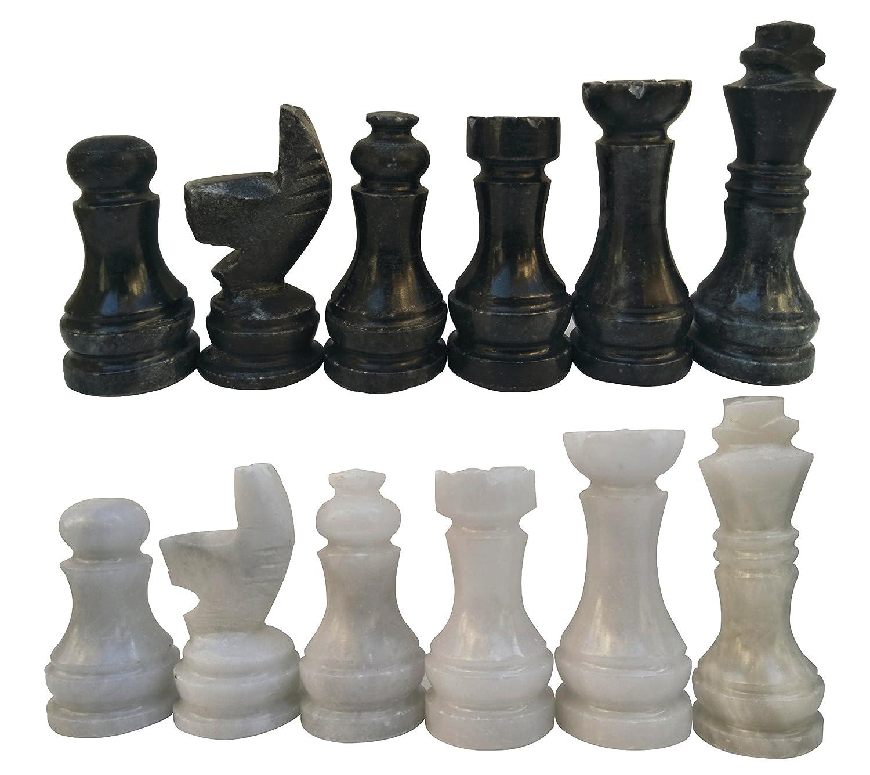 美しい RADICALn Black and Suitable White Marble Big Chess Figures 16 - Board Complete 32 figures set - Suitable for 16 to 20 inches Chess Board B0768L6BWL, 中原淳一ショップそれいゆ:5d3118fe --- nicolasalvioli.com