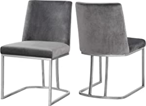 """Meridian Furniture Heidi Collection Grey Modern 