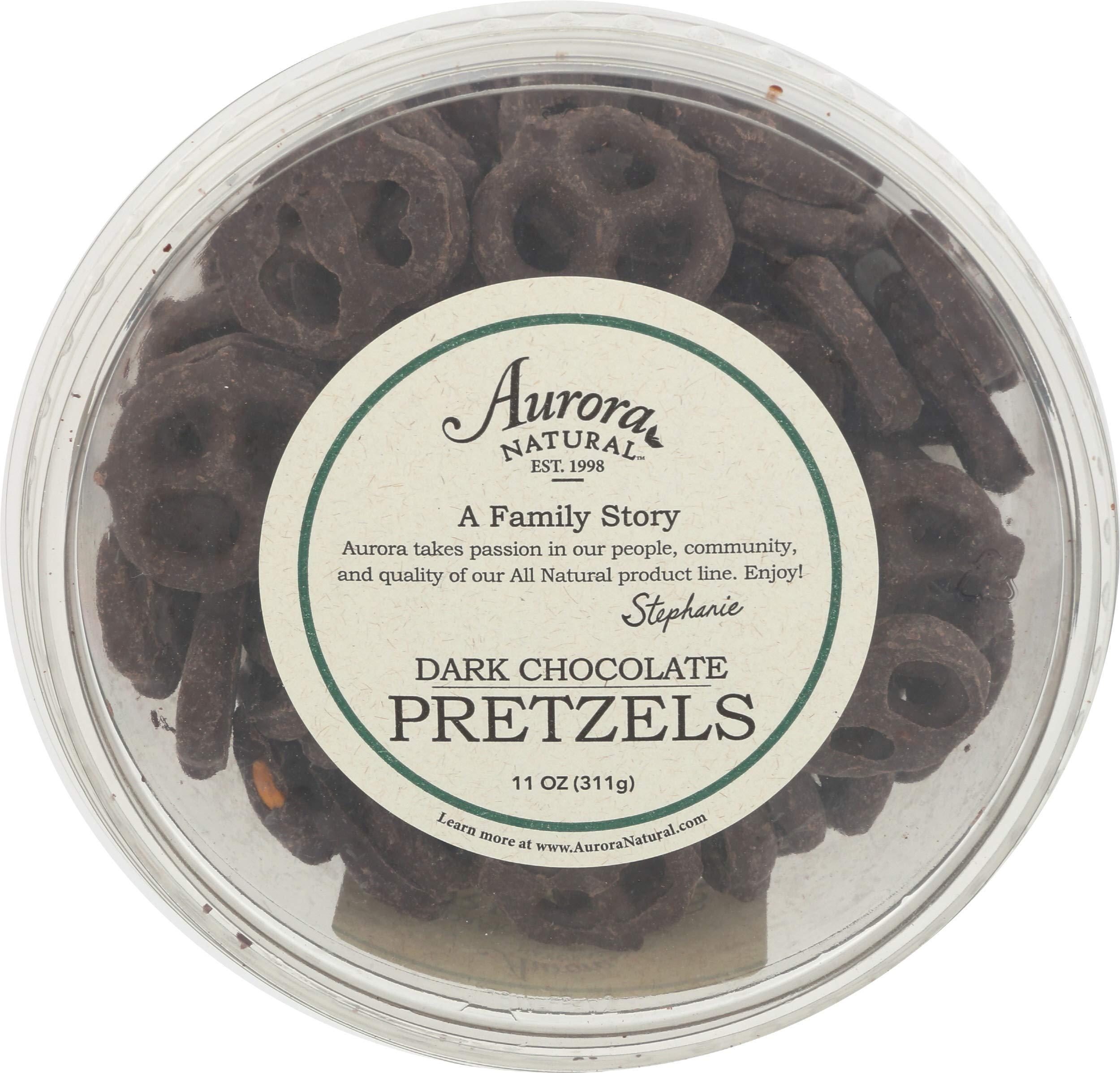 Aurora Products, Pretzel Dark Chocolate Family Tub, 11 Ounce