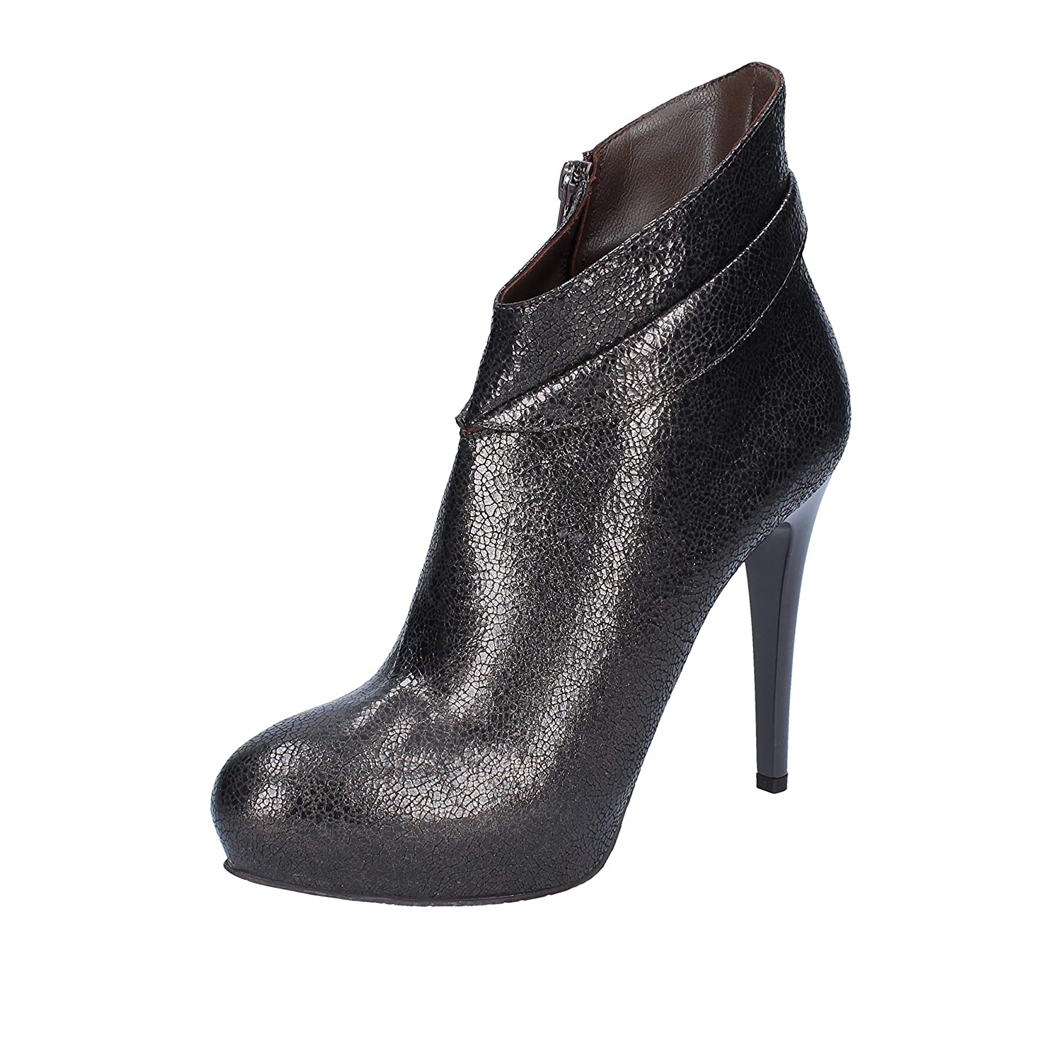 - GIANCARLO PAOLI Boots Womens Leather Grey