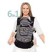 LÍLLÉbaby The COMPLETE Original SIX-Position, 360° Ergonomic Baby & Child Carrier, Black of the Same Stripe - Multi-Position Ergonomic Baby Carrier for Infants Babies Toddlers