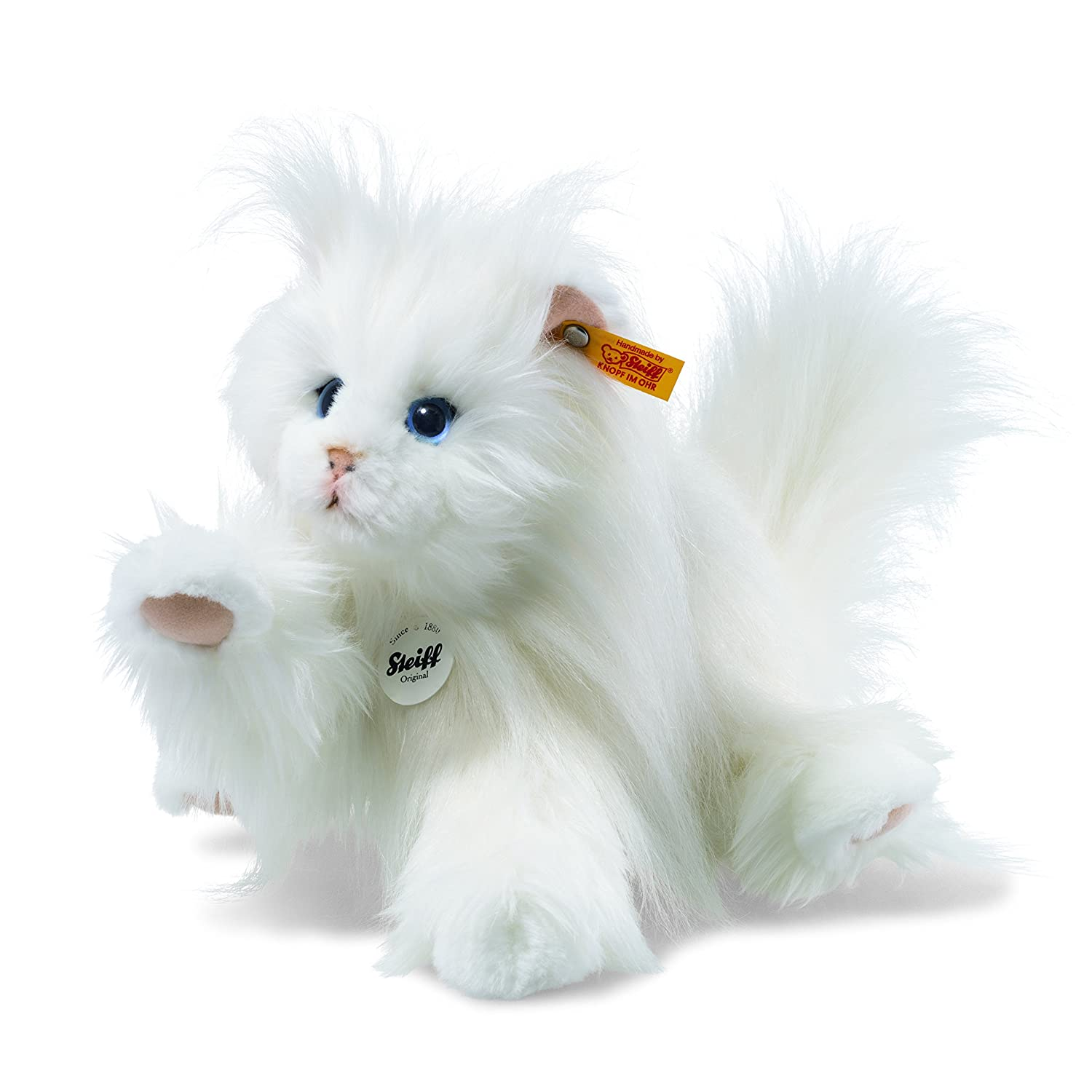 Steiff 99243 Princess Gato Persa, Color Blanco