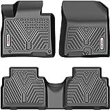 YITAMOTOR Floor Mats Compatible with 2019-2020 Hyundai Santa Fe 5 Passenger Models, Custom Fit Black TPE Floor Liners, 1st &