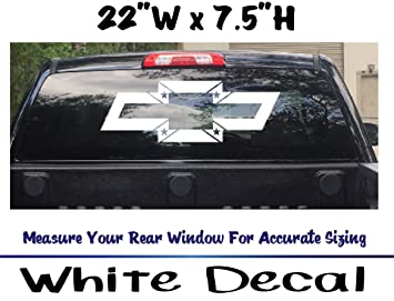 Amazoncom Chevy Bowtie Flag Rear Window Truck Car Auto Vinyl - Chevy bowtie rear window decal