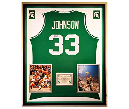 cheap for discount d4610 570b7 Premium Framed Magic Johnson Autographed/Signed Michigan ...