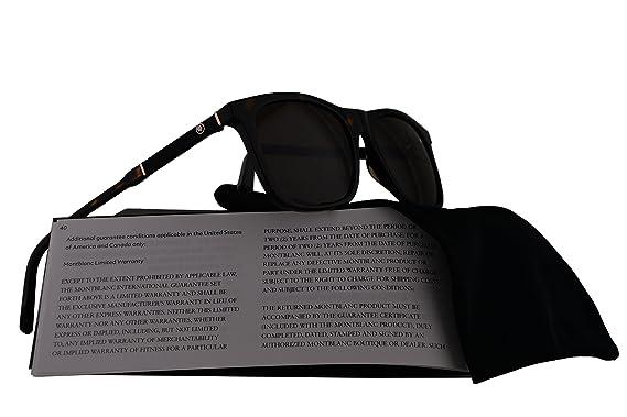 1a1b3286bf36 Amazon.com  Mont Blanc MB606S Sunglasses Havana w Brown Lens 52E MB 606S   Clothing